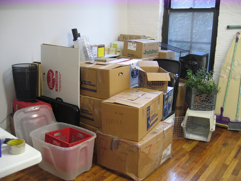 Pack with items you already own to reduce the cost of purchasing moving supplies.
